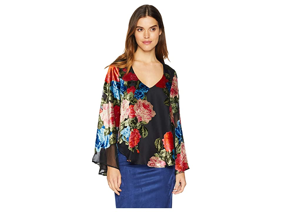 Show Me Your Mumu Hippie Dippie Top (Midnight Fiesta Burnout Velvet) Women's Clothing, Multi