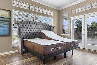 "Sven & Son Split King Essential Adjustable Bed Base Frame + 10"" Luxury Cool Gel Memory Foam Mattress, Wireless, 5 Minute A..."