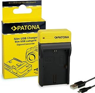 PATONA Estrecho Cargador de Batería para Canon LP-E6 EOS 5D 60D 60Da 6D 7D EOS70D   8.4 V/500 mA   Micro-USB