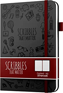 $26 » A5 Dotted Journal by Scribbles That Matter - Create Your Perfect Bullet Notebook Journal on Ultra-Thick 160gsm No Bleed Pa...