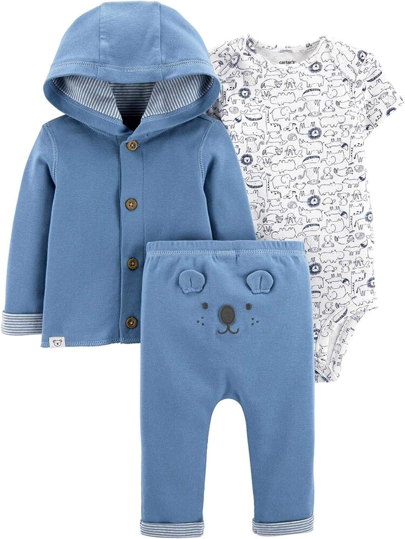 Carter's Baby 3-Piece Koala Little Cardigan Hooded Set (Preemie)