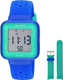 ساعة ارمترون سبورت لكلا الجنسين بنظام كرونوغرافي قابل للتبديل بسوار من السيليكون، 45/7123