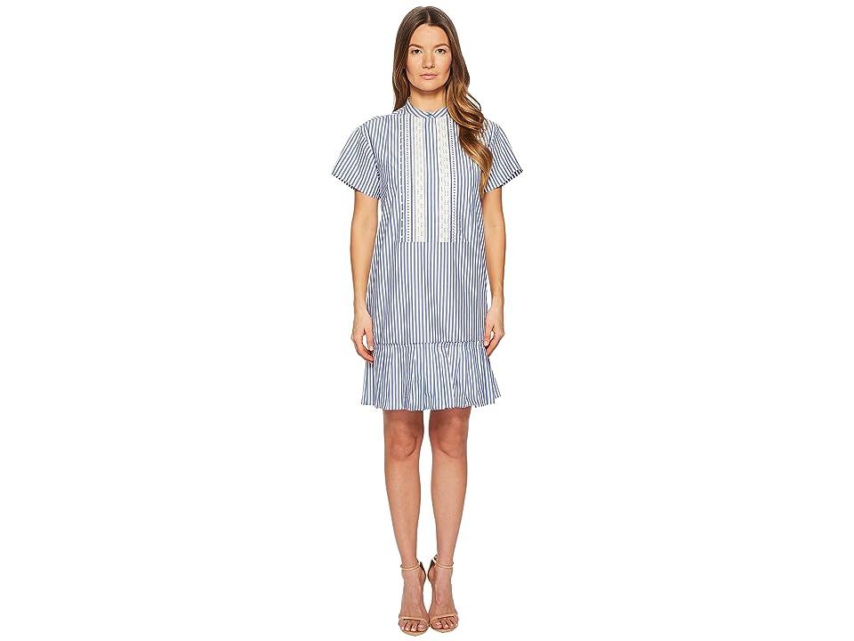 Paul Smith Striped Dress (White/Blue) Women