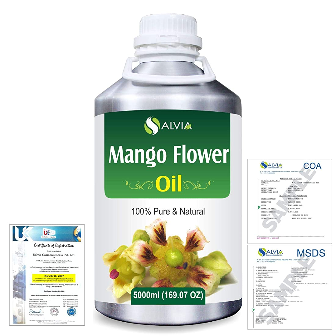 ジャムフルーティーアレイMango Flowers (Mangifera indica) 100% Natural Pure Essential Oil 5000ml/169fl.oz.