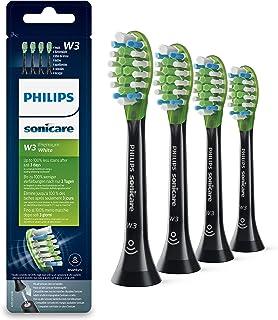 Philips 飞利浦 Sonicare HX9064/33 Original Premium 白色刷头 适用于 DiamondClean Smart 牙刷 4 件装 黑色
