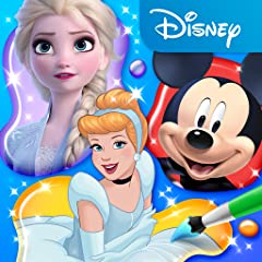 Huge library of Disney and Pixar characters to color and customize. Powerful coloring tools including fine pens, brushes, fils and magic brushes. Discover lots of hidden mini-games and interactions in the playsets. Explore locations from your favorit...