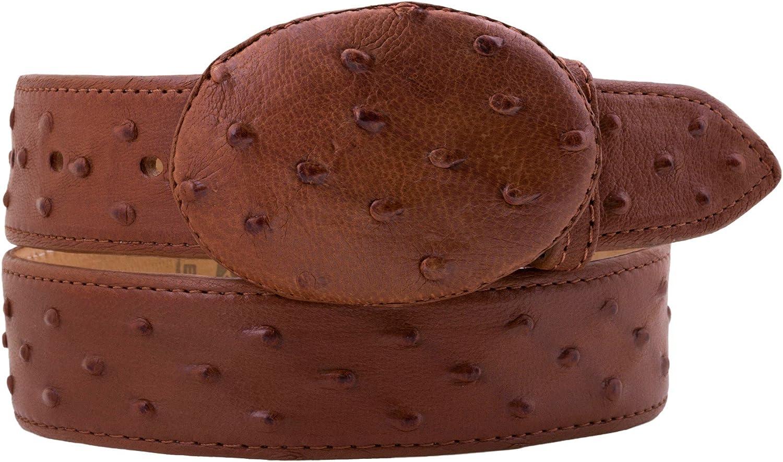Kids Cowboy Western Belt Chedron Ostrich Pattern Leather Round Buckle 30