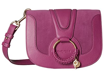 See by Chloe Hana Small Suede Leather Crossbody (Pulpy Purple) Cross Body Handbags