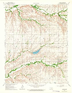 YellowMaps Latham KS topo map, 1:24000 Scale, 7.5 X 7.5 Minute, Historical, 1964, Updated 1965, 27.08 x 21.11 in
