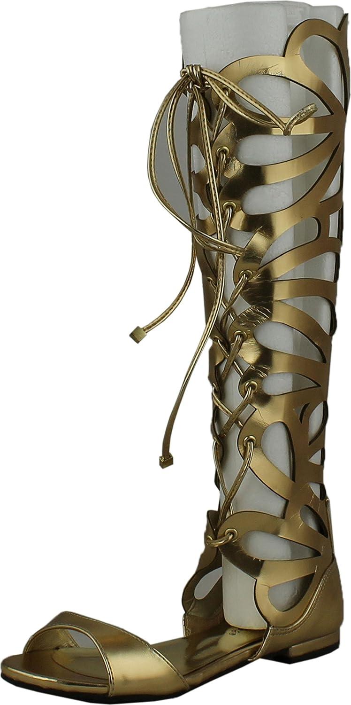 Breckelles Womens Solo-15 Gladiator Sandals