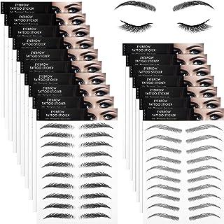 18 Sheets 4D Hair-Like Authentic Eyebrows Waterproof Eyebrow Tattoo Stickers Eyebrow Transfers Stickers Eyebrow Grooming S...