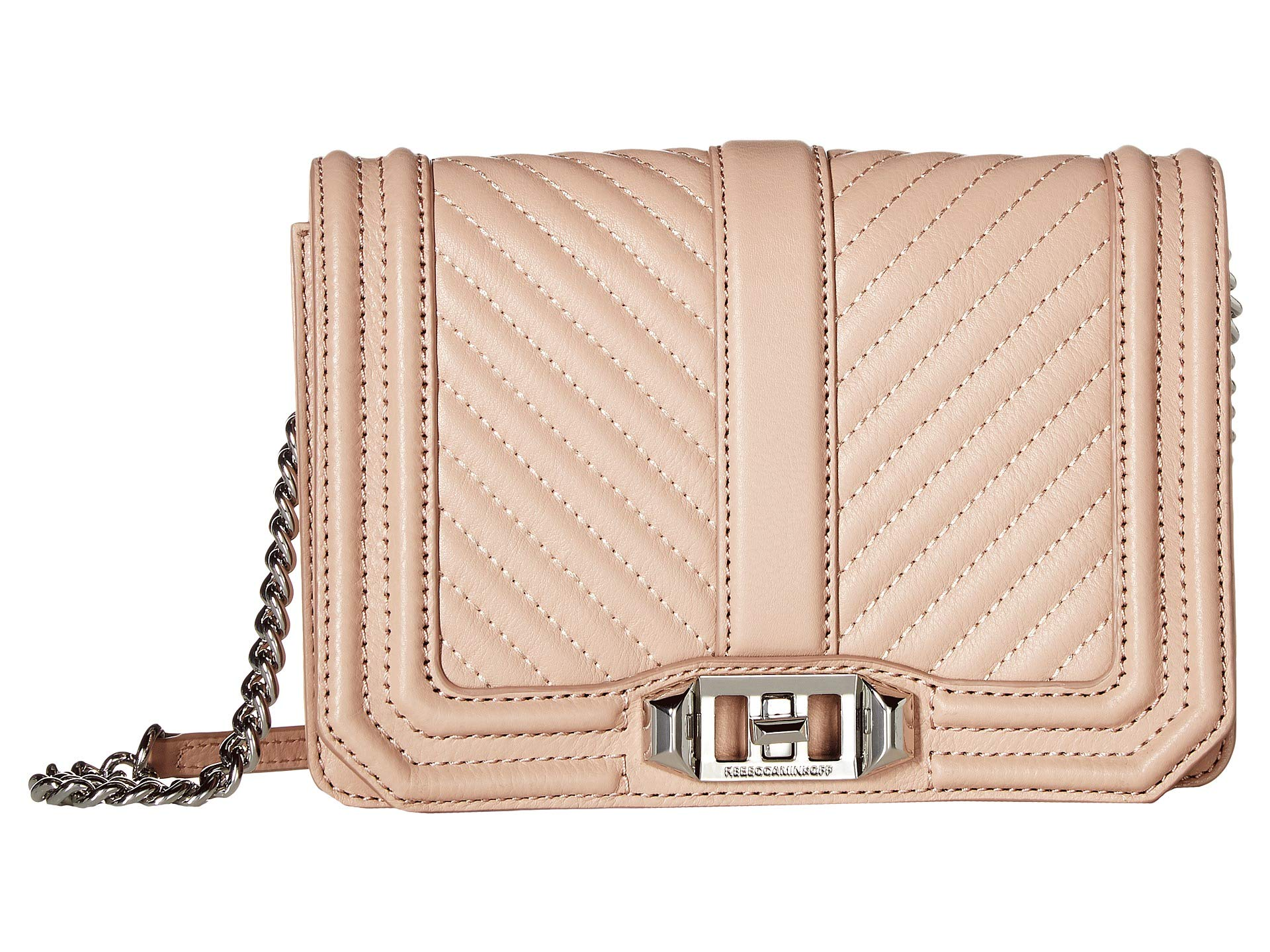 Crossbody Rebecca Minkoff Chevron Love Small Doe Quilted qrBrdwxX