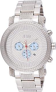 JBW Luxury Men's Victor 16 Diamonds Pave Dial Detail Chronograph Watch - JB-8102-B