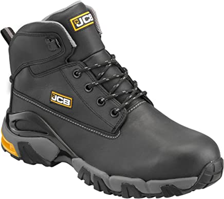 JCB Mens 4x4 B Safety Boots Black 9 UK, 43 EU