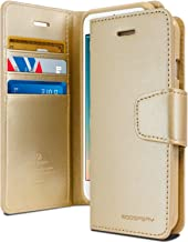 Goospery Sonata Wallet for Apple iPhone 8 Plus Case (2017) iPhone 7 Plus Case (2016) Leather Stand Flip Cover (Gold) IP7P-SON-GLD