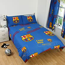 Barcelona FC Patch uk Double/US Full Duvet Cover and Pillowcase Set