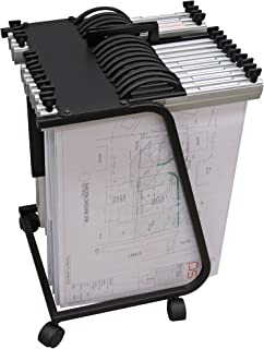 Arnos Hang-A-Plan General Front Load Trolley for A2/A3 Binders