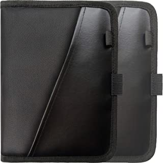 Glove Box Compartment Organizer - Car Document Holder - Owner Manual Case Pouch - Vehicle Storage Wallet for Registration & Insurance Card - Premium Auto Paperwork Holder - Log Book included - 2 Pack