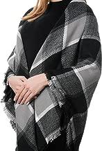 Donna Sciarpa Scialle Inverno Coperta Scozzese Invernale, Sciarpa Scialle Donna Inverno Grande Scozzese Quadrato Donna Vestibilità Adatta a Tutti Abbigliamento per Moda, Mantenere e Calda