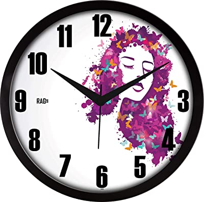 RAG28 Designer Wall Clock (Size: 11.75 Inches, 14659)