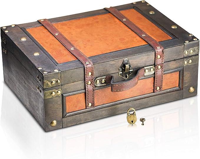 181 opinioni per Brynnberg Scrigno del Tesoro Vintage 38x27x14cm- con Lucchetto
