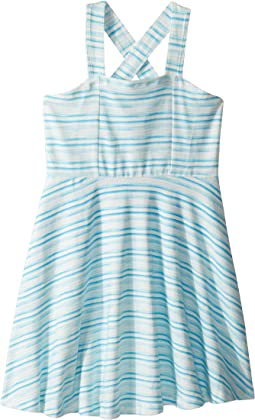 Aqua Blue Tank Skater Dress (Toddler/Little Kids/Big Kids)