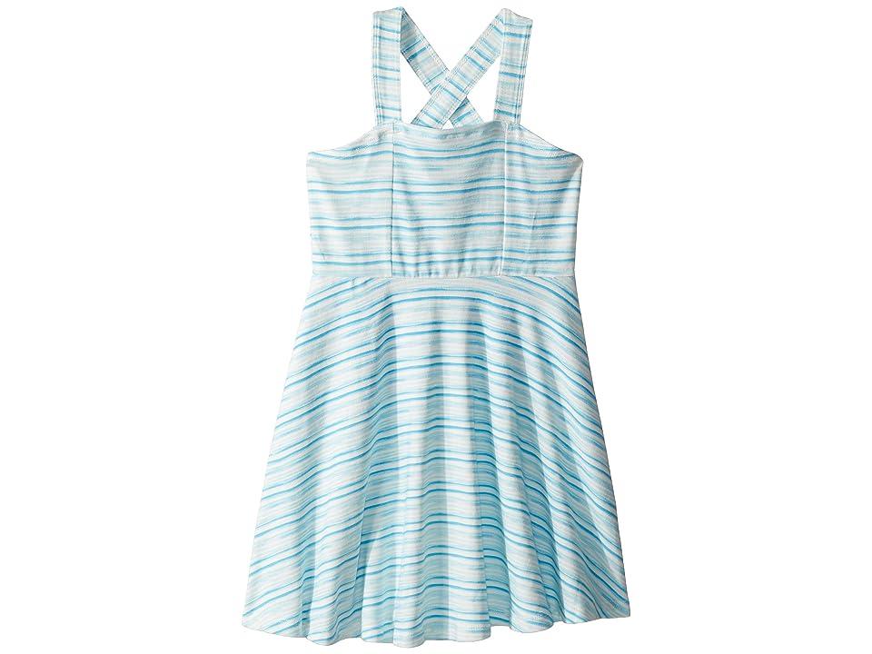 Toobydoo Aqua Blue Tank Skater Dress (Toddler/Little Kids/Big Kids) (Blue) Girl