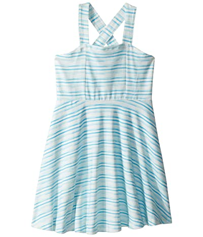 Toobydoo Aqua Blue Tank Skater Dress (Toddler/Little Kids/Big Kids) (Blue) Girl