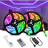 Elfeland 32.8-ft RGB Color Changing LED Strip Lights with Remote