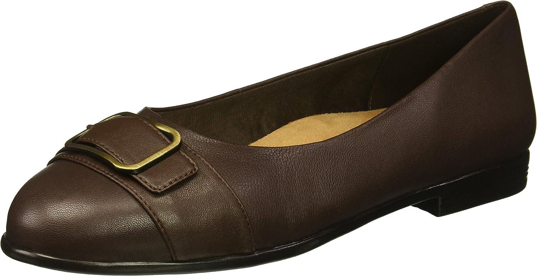 Trotters Women's Aubrey Loafer Flat, Dark Brown, 8.0 N US