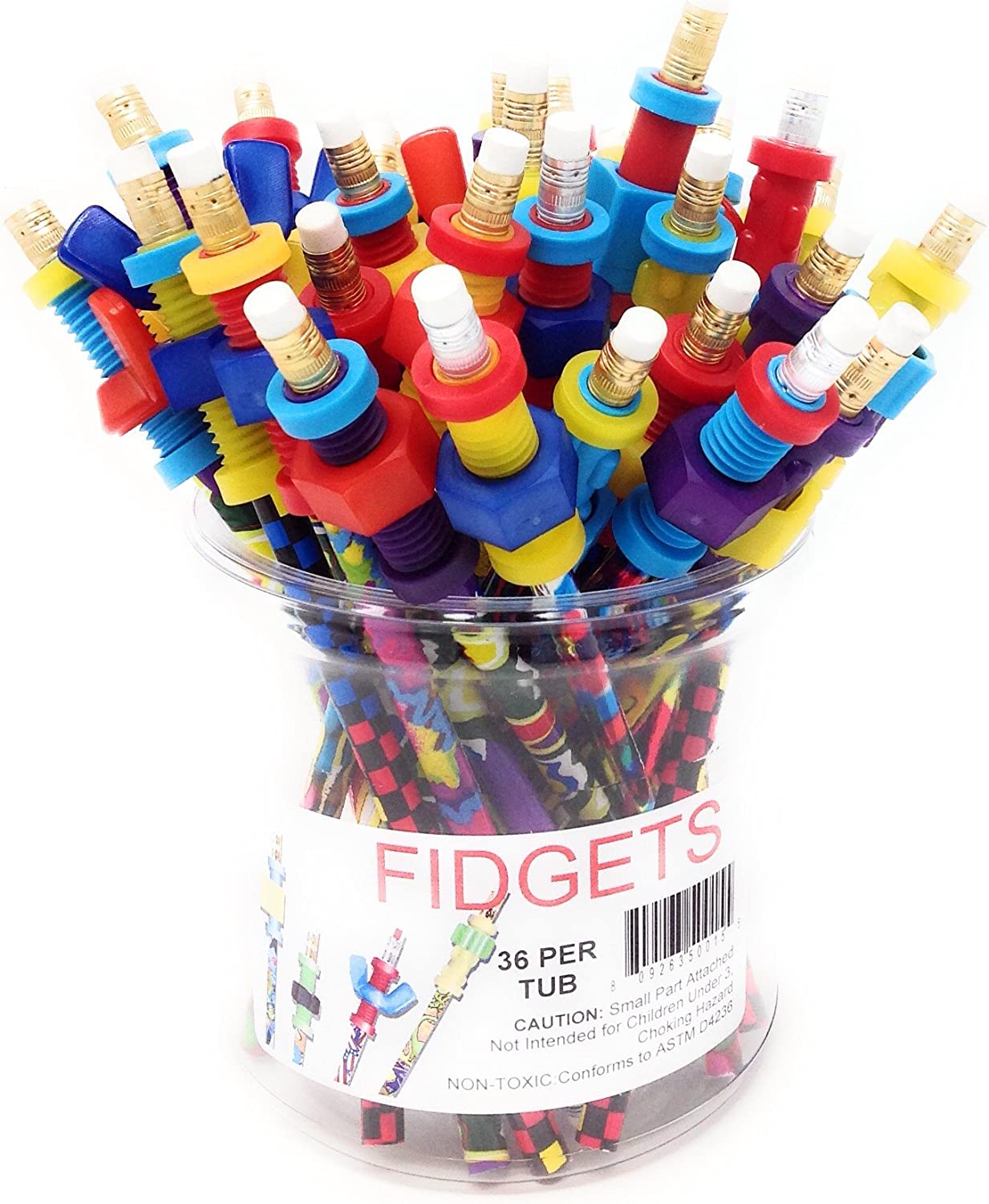 Fidget 25% OFF Pencil Toppers of Tub 2021 model 36
