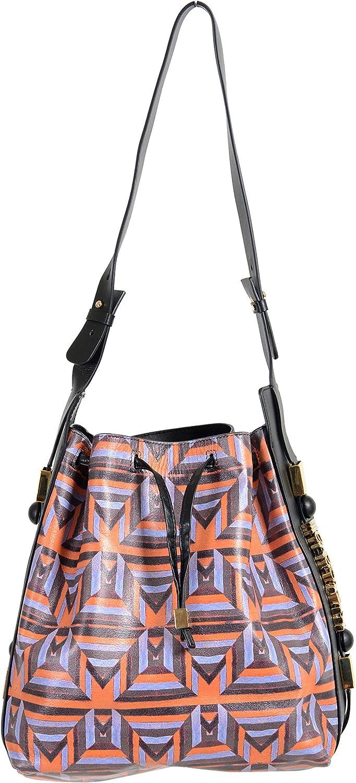 Just Cavalli 100% Leather orange Women's Shoulder Bag