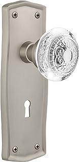 "(satinnickel, 2-3/8"") - Nostalgic Warehouse Egg and Dart Privacy Door Knob with New York Plate"