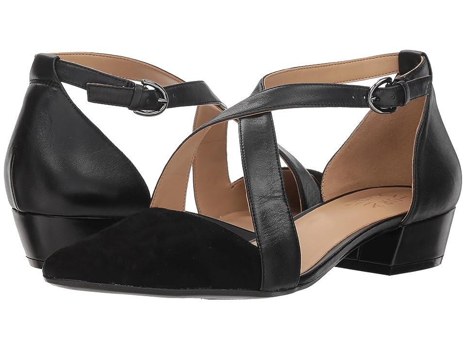 Edwardian Shoes & Boots | Titanic Shoes Naturalizer Blakely Black LeatherSuede Womens 1-2 inch heel Shoes $110.00 AT vintagedancer.com