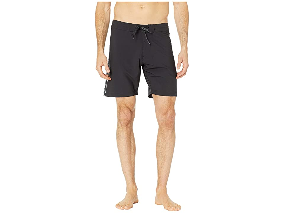 VISSLA 17.5 The Trip Swim Shorts (Black) Men