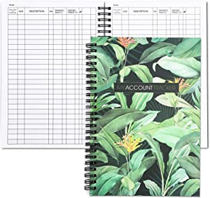 2 Pack Account Tracker Notebook, Expense Ledger Book for Small Business, Bookkeeping