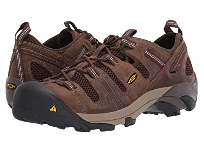 Keen Utility Atlanta Cool ESD Soft Toe (Cascade Brown/Forest Night) Men