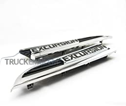 Truck Emblem Warehouse 2 New Custom Chrome & Black Excursion SUV 11-16 Front END Conversion Badges Emblems