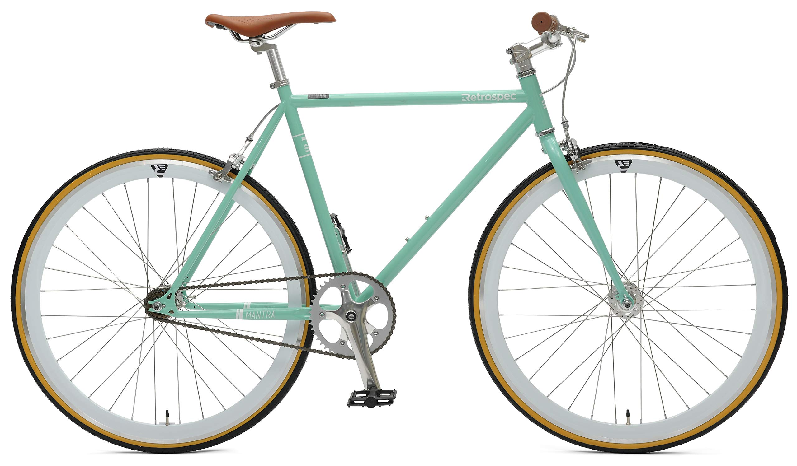 Retrospec Bicycles Mantra V2 Single Speed Fixed Gear Bicycle Celeste 49cm Small Buy Online At Best Price In Uae Amazon Ae