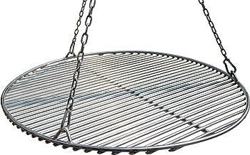 VEIKIN DESIGN Edelstahl Grillrost Rund Durchmesser 50 cm, Profi Grillrost für Schwenkgrill, Massive Ausführung, Gastronomie Grillrost, Handarbeit aus Deutschland