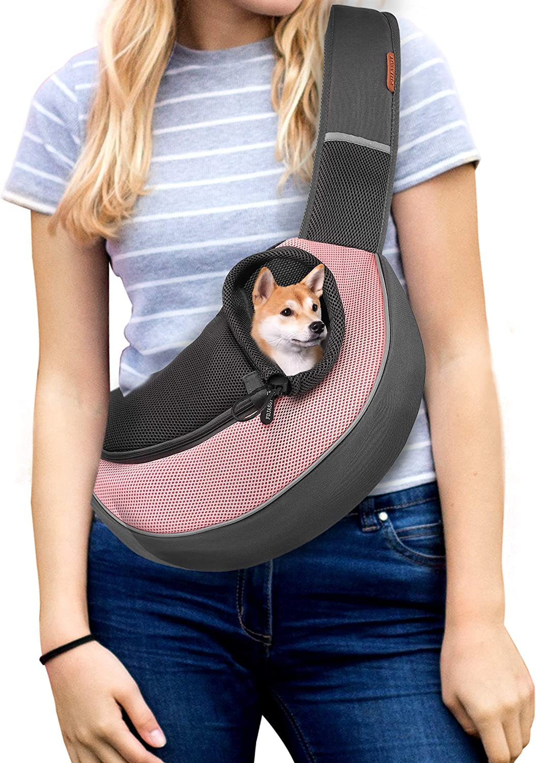 FDJASGY Pet Sling Carrier for Small Cats Mesh NEW before selling ☆ Dogs Safety and trust Tr Breathable