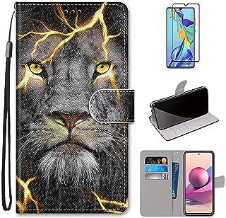 MUTOUREN Compatibel met Samsung Galaxy A32 4G Case met 1* Screen Protector, PU Lederen Portemonnee Case Flip Folio Cover M...