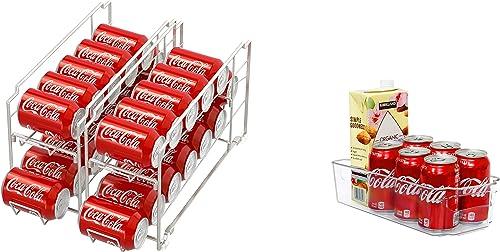 new arrival SimpleHouseware outlet sale Stackable Beverage sale Can Dispenser + Kitchen Organizer Bin outlet online sale