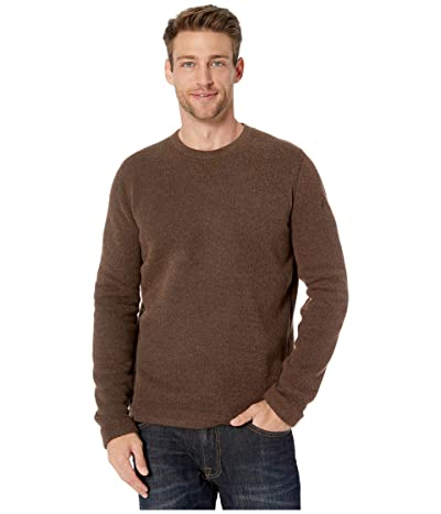 Smartwool Hudson Trail Fleece Crew Sweater (Bourbon Heather) Men