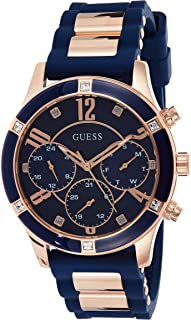 GUESS Womens Quartz Watch Chronograph Display and Silicone Band W1234L4