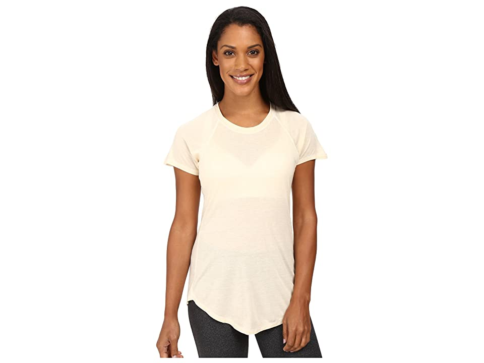 The North Face Nueva Short Sleeve Top (Moonlight Ivory Heather (Prior Season)) Women