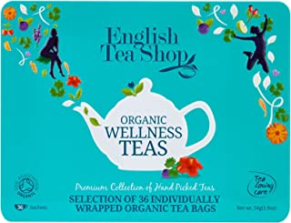 English Tea Shop Wellness Collection Blue Tin Envelopes, 54 Gram