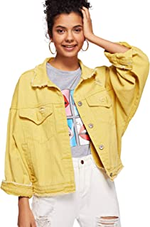 65298c0697 Amazon.com: Yellows - Denim Jackets / Coats, Jackets & Vests ...