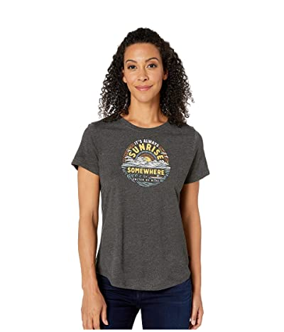 United By Blue Sunrise Somewhere Short Sleeve 55/45 Graphic Tee (Mountain Ash) Women