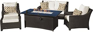 RST Brands Deco 5 Piece Love and Club Fire Set, Moroccan Cream